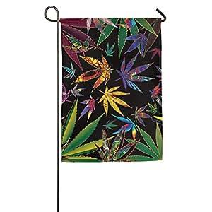 Trippy Pot hojas significativo Bandera de desfile