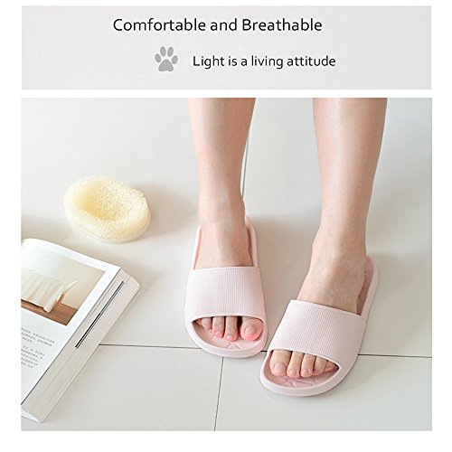 WILLIAM&KATE Spring Summer Unisex Household Slipper Casual Anti-Slip Bathroom Slippers Soft Lightweight Sandal Indoor&Outdoor Couple Slippers Pink A7Z7azGml