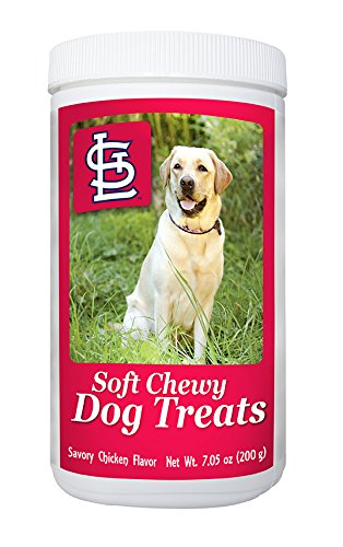 Treats Training Cardinal (MLB St Louis Cardinals Soft Chewy Dog Treats - Chicken Flavored Snack - Small Medium or Large Pets - Training Reward - 7oz or Approx 100 Chews – Low Calories 4 per)
