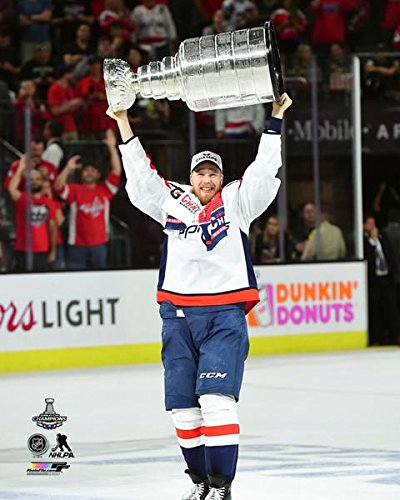 "Lars Eller Washington Capitals Stanley Cup Trophy Photo (Size: 8"" x 10"")"