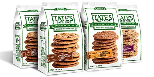 Tate's Bake Shop Thin & Crispy Cookies, Gluten Free Variety Pack, 7 Ounce, 4...
