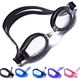 Aguaphile Clear Lens Swim Goggles Soft and Comfortable - Anti-Fog UV Protection - Best Clear Lens Swimming Goggles - Compare to Speedo, Aqua Sphere, or Ispeed - Adult, Men or Women - Premium Quality