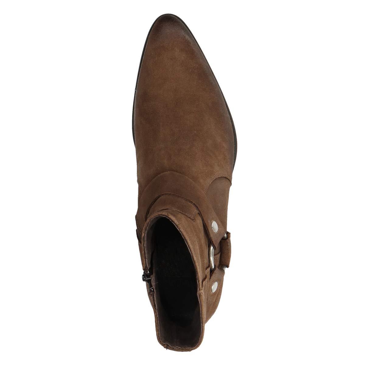 Sacha Schuhe   Herren Kurze Leder Stiefel   Leder Kurze   Farbe  Schwarz c5a234