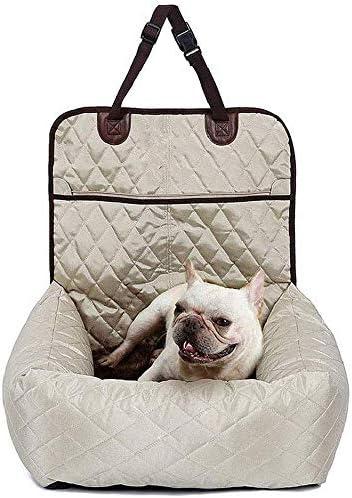 L.TSA Asiento de Coche para Perro, 2 en 1, Asiento Elevador para Mascotas, Funda extraíble, Seguro y cómodo con cinturón de Seguridad para Perros pequeños y medianos: Amazon.es: Deportes y aire libre