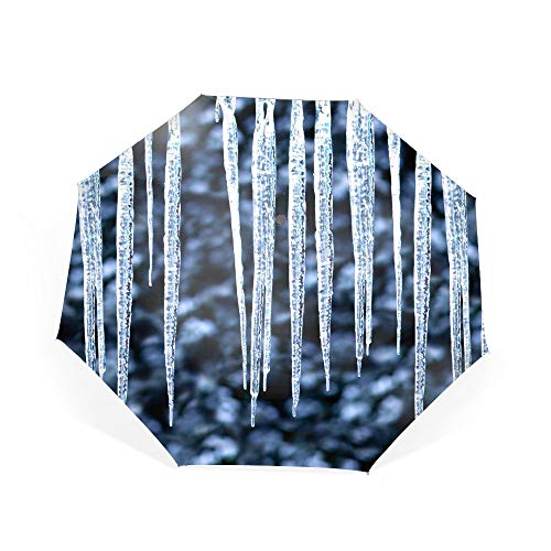 - Icicles Frost Ice Hot Travel Umbrella Reinforced Canopy, Ergonomic Handle Umbrella