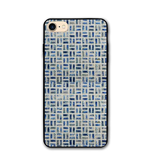 Porcelain Mosaic Tile In Neptune Blue Classic Shell Full Protective Back Case Cover For Apple IPhone - Classics Neptune