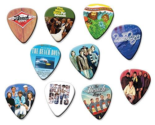 Beach Boys (Tribute Edition) Set of 10 Electric Acoustic Guitar Plectrums (Guitar Boys Beach)