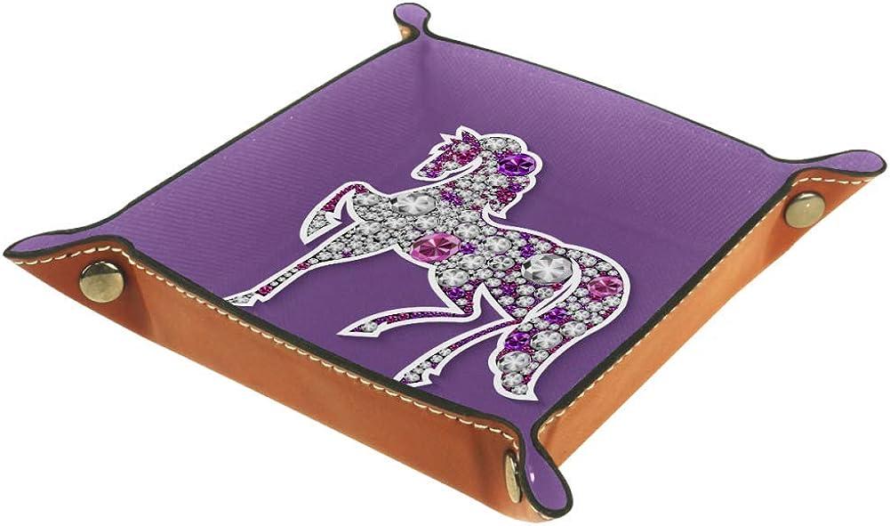 Xingruyun Ilustración de Cabeza de Ciervo Bandeja Al Lado De La Caja De Almacenamiento Caja De Joyería Monedero Clave Monedero