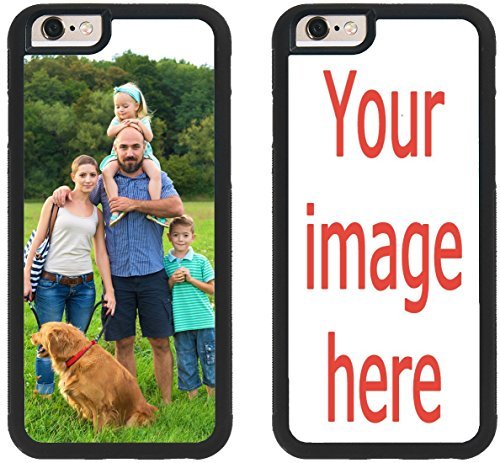 Custom iPhone 8 Cases iPhone Cover iZERCASE [Personalized Custom Picture CASE] Make Your Own Phone Case (Black, iPhone 8)
