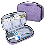 Luxja Carrying Case Compatible with HealthmateForever YK15AB TENS Unit Electronic Pulse Massager (Empty Case Only), Purple