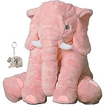 Big Stuffed Elephant Plush Toys, Stuffed Animal for Girls, Pink, 24 Inch