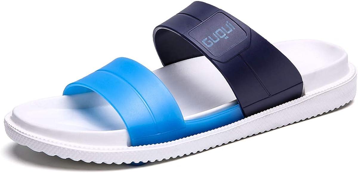 WangJiaoHou Mens Slip On Sandals Slippers Comfortable Shower Slides Beach Pool Slip Open Toe Ring Sandals