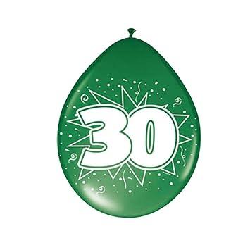 Amakando Esfera con número Cumple Globos cumpleaños 30 años balón ...