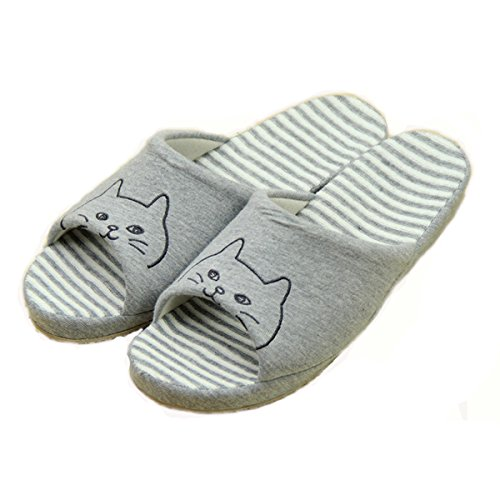 Womens Slippers Bedroom Slippers S160 Indoor Oyangs Cartoon Ladies Cute Cat Toe B 4qfA5xdw