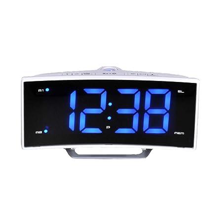 Jiege Reloj Despertador proyector, Moda LED Espejo proyección ...
