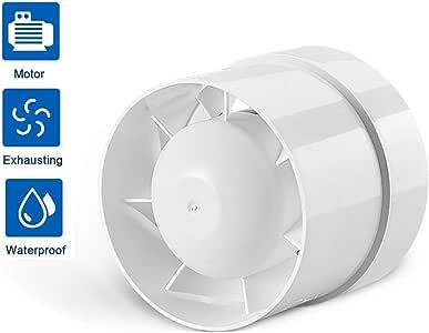 EtexFan Ventilador Extractor De Baño Diámetro 150Mm Silencioso Y De Bajo Consumo 210 M³/H Color Blanco para Baño Y Cocina Oficina Dormitorio: Amazon.es: Deportes y ...