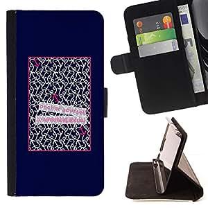 Momo Phone Case / Flip Funda de Cuero Case Cover - Patter Cita Cartel del amor de texto - Samsung Galaxy S6 Edge Plus / S6 Edge+ G928