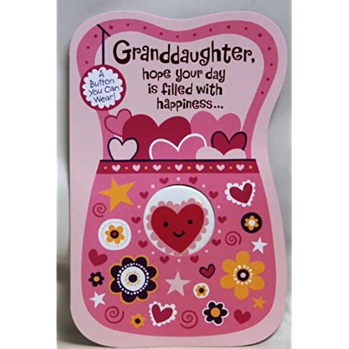 Valentine Card Granddaughter, (Granddaughter, hope your day is filled with happiness)ByAmerican Greetings Each Sales