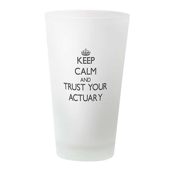 1304a4e4944 Amazon.com: CafePress Keep Calm And Trust Your Actuary Pint Glass, 16 oz. Drinking  Glass: Kitchen & Dining