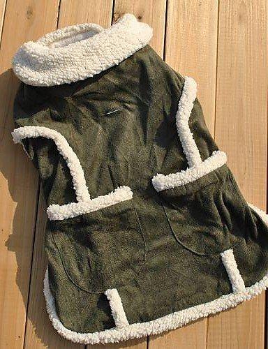 withyourlife abrigos para perros/gatos verde invierno boda/Cosplay XS/S/M/L algodón *-* 4004 *-* 4004: Amazon.es: Productos para mascotas