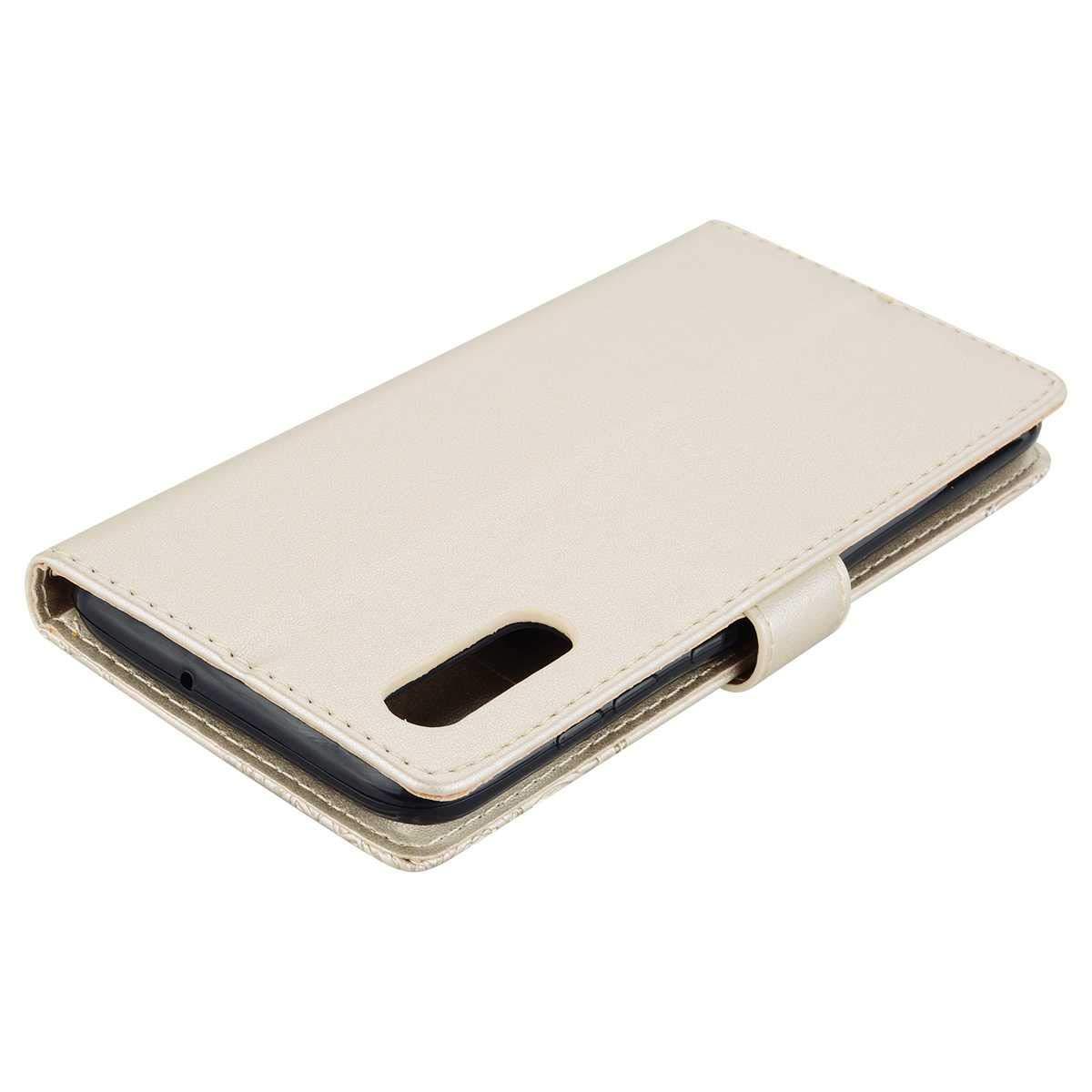 Geldfach und Kartenfach Brieftasche Leder Schutzh/ülle mit Handschlaufe Gold Klapp St/änder H/ülle Bear Village/® H/ülle kompatibel mit Samsung Galaxy S9