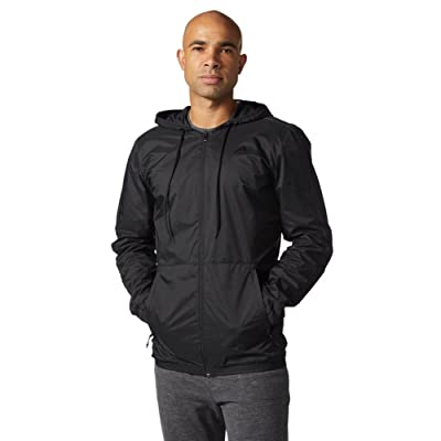 adidas Men's Athletics Essential Wind Jacket, Black/Black, 3X-Large