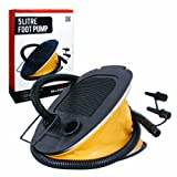 Milestone Camping Foot Pump - Yellow, 5 Litres