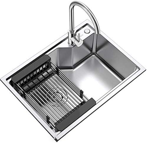 流し台シンク スクエアホームキッチン食器洗いルーム着替え池/ホテルアフター台所野菜と果物洗濯表/バスルーム (Color : Gray, Size : Common faucet)