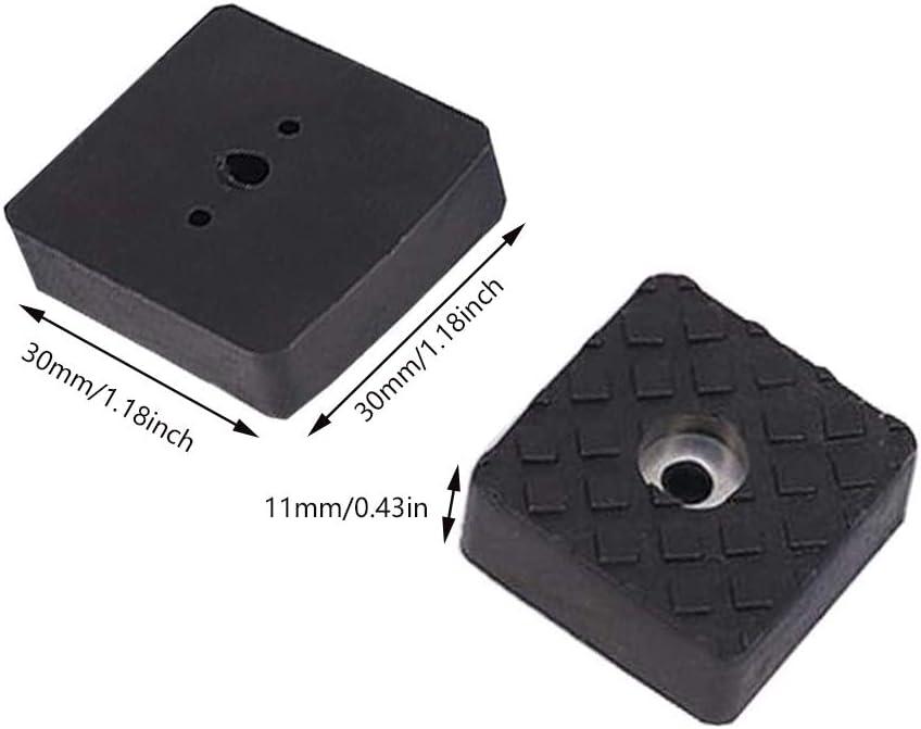 Mesas Suelo Dia 30mm Negro Almohadilla de Gomay ConTornillo- Set Protector de Patas Para Sillas ARTISAN-SH 12 Piezas Protector Patas Sillas Cuadradas