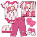 Precious Moments Baby Girls 5 Piece Pink Clothing