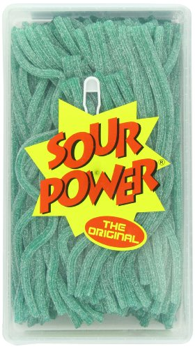 Sour Tub (Sour Power Green Apple Straws, 200-Count Tubs (Pack of 2))