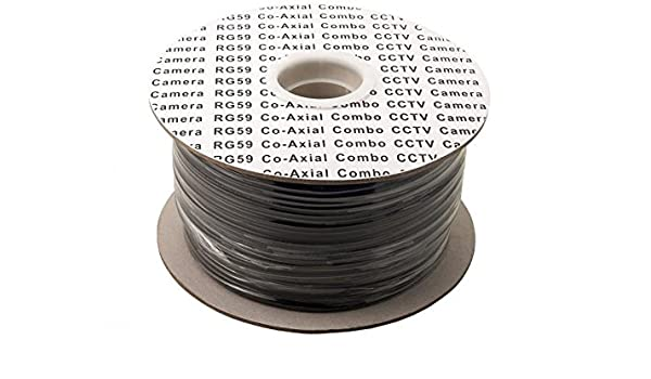 Cable reel- escopeta coaxial RG59 CCTV Cable de vídeo con DC Power Line, 100 m, 250 m, blindado RG59 + 2 Cable de 75 ohm Ideal para instaladores CCTV .