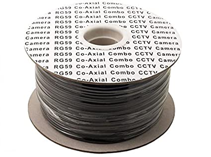 100m Reel RG59 Coaxial Shotgun CCTV Video Cable with DC Power Line