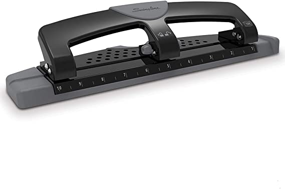 Metal,Silver 1 HP12 3 Hole Punch 12 Sheet Capacity
