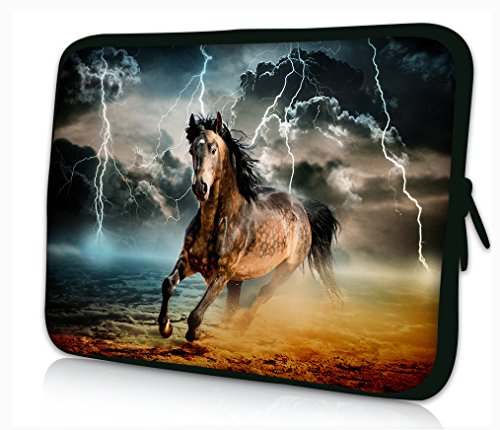 ProfessionalBags Universal 12 inches Laptop Netbook Bag Sleeve Case Cover for 11.6 12 12.1 12.2 inch Apple HP DELL Acer Samsung ASUS Notebook Tablets,Horse Design