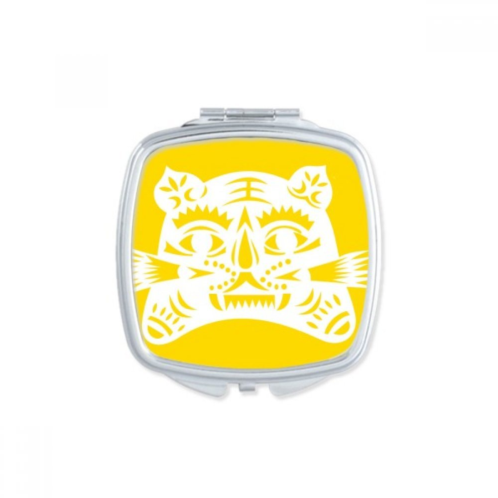 DIYthinker Year Of Tiger Animal China Zodiac Square Compact Makeup Mirror Portable Cute Hand Pocket Mirrors Gift by DIYthinker