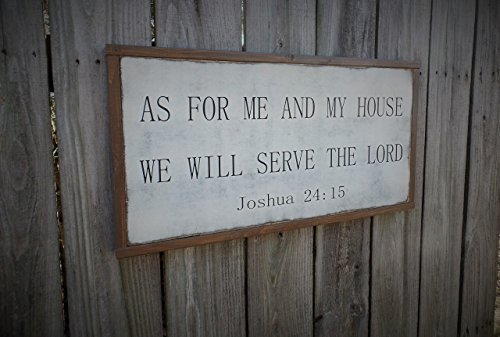 As For Me and My House Joshua 24: 15 Wood Sign Bible Verse Wooden SIgn