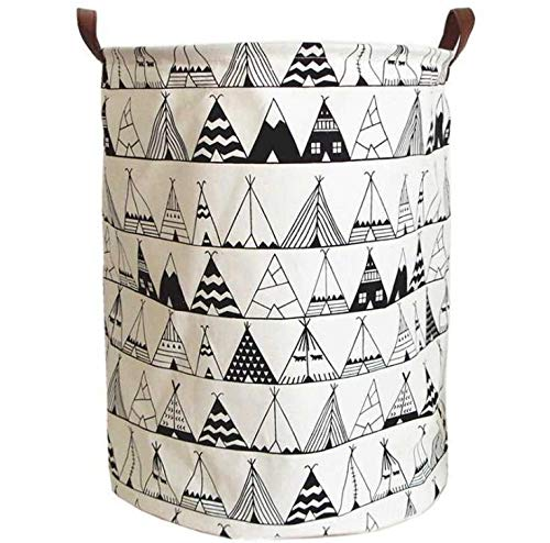 Tent Daliuing Large Storage Bin Cotton Storage Basket Round Gift Basket with Handles for Toys Laundry Baby Nursery