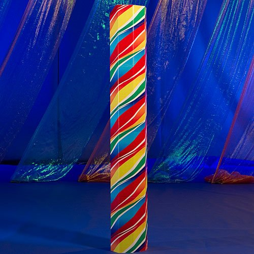 Shindigz Swirl Lollipop Candy Octagon Column Photo Booth Prop Background Backdrop Party Decoration Scene Setter