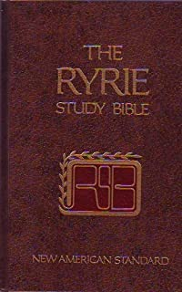 Ryrie Study Bible New American Standard Black Indexed Red Letter Edition