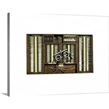 Canvas On Demand Premium Thick-Wrap Canvas Wall Art Print entitled Optician's eyeglass, studio shot