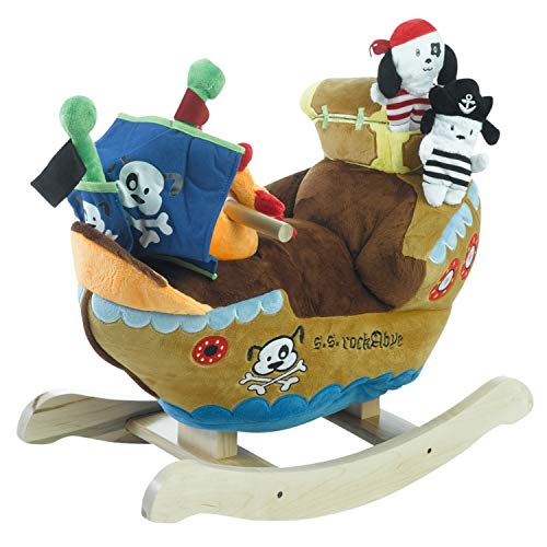 Baby Rocker, Educational, Fun Toys All Wrapped Up in Ahoy Doggie Pirate Ship Play and Rock Engraved with Your Child's Name in Choice of Colors