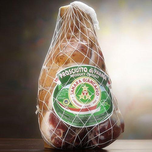 Authentic 24 Month Prosciutto di Parma DOP by Tanara - Whole Leg (15 - Parma Prosciutto Ham