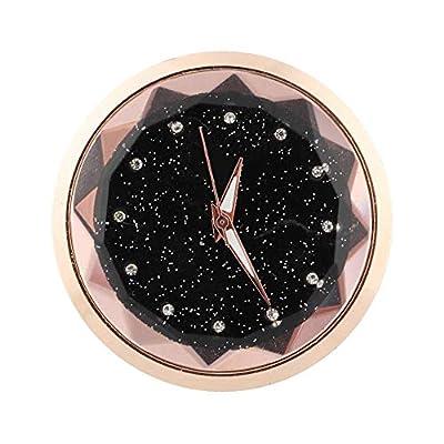 Akozon Car Ornament Automotive Electronic Clock Sticker Watch Interior Decoration Accessories (Gold): Automotive