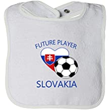 Cute Rascals Future Soccer Player Slovakia Tot Contrast Trim Terry Bib