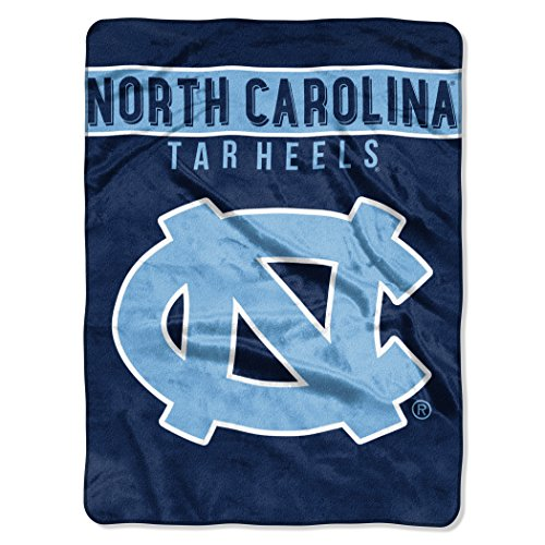 (The Northwest Company Officially Licensed NCAA North Carolina Tar Heels Basic Raschel Throw Blanket, 60
