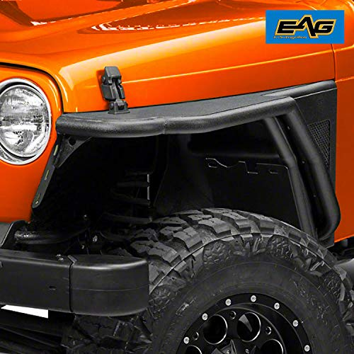 EAG Black Textured Off Road Front Fender Fit for 76-86 Jeep Wrangler CJ