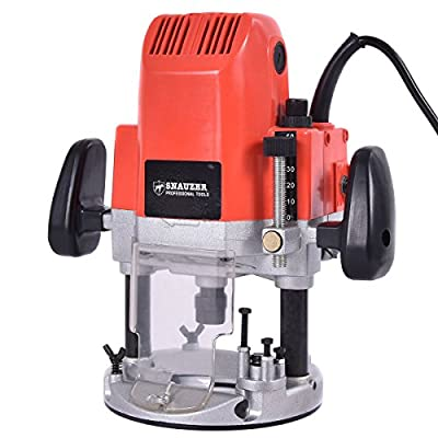 "Goplus® 1/2"" And 1/4"" Electric Plunge Router, 1850-Watts, 3HP, 110V, 30,000-RPM"