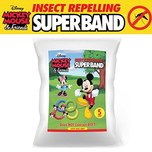 Classic Disney SUPERBAND: All Natural Insect Repelling Wristband with Mickey and Minnie Mouse Charms (50) by Superband
