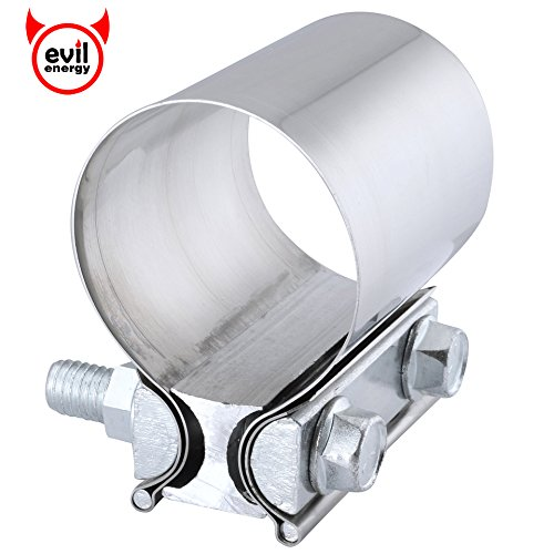 "EVIL ENERGY 2.5"" Butt Joint band clamp Exhaust Sleeve Stainless Steel"